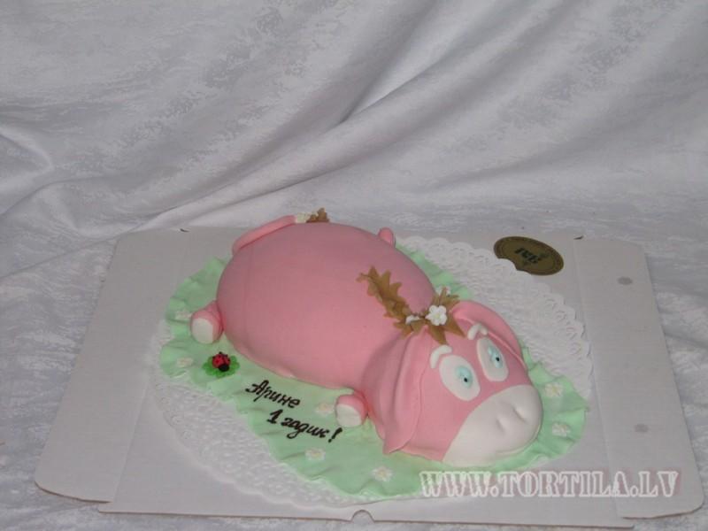 розовый ослик