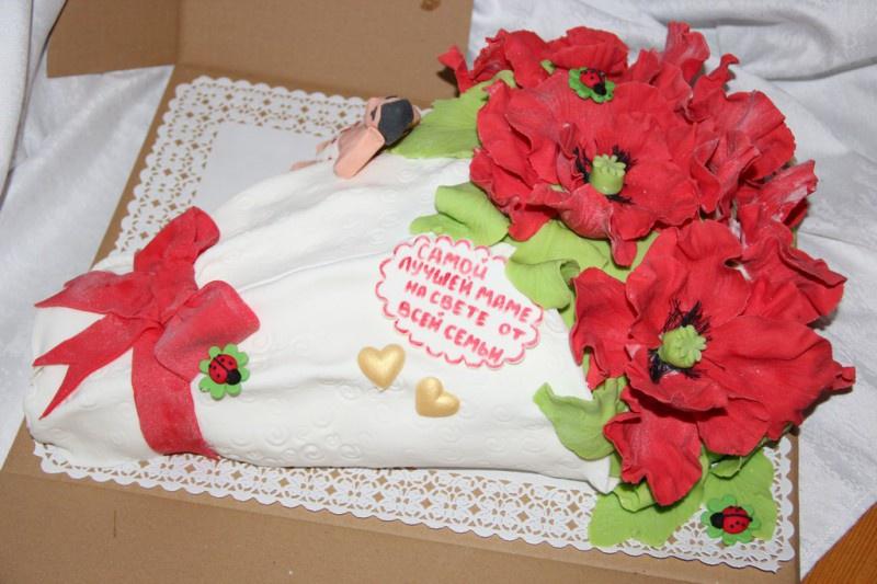 оформление торта для мамы картинки