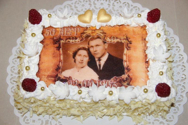 золотая свадьба, фото торт