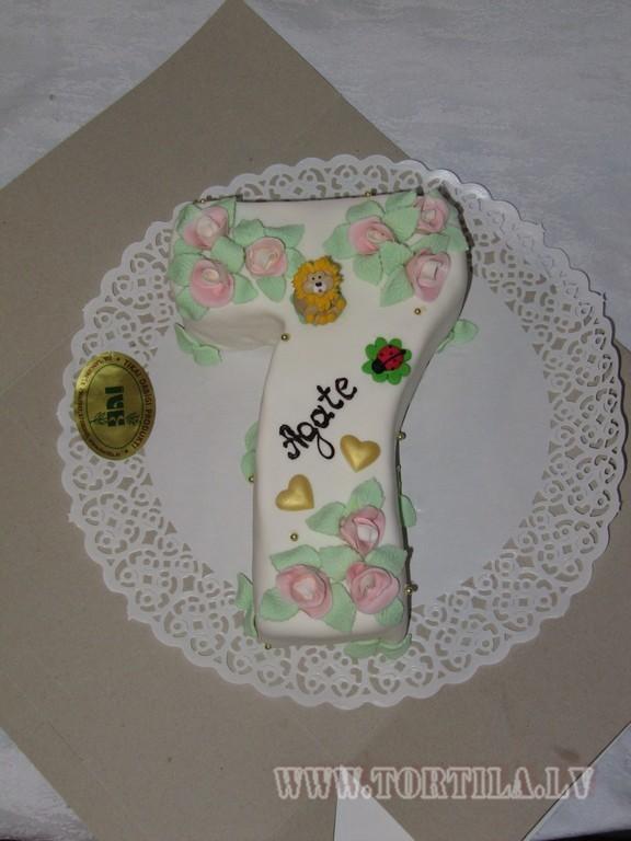 Торт в виде цифры 7 своими руками